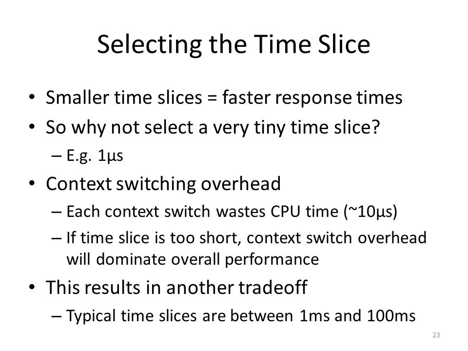 Selecting the Time Slice
