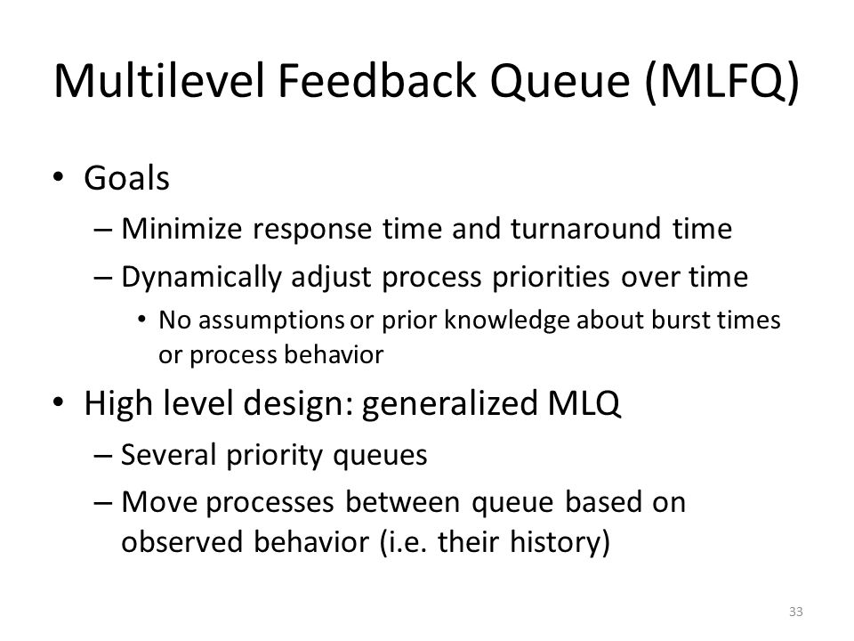 Multilevel Feedback Queue (MLFQ)