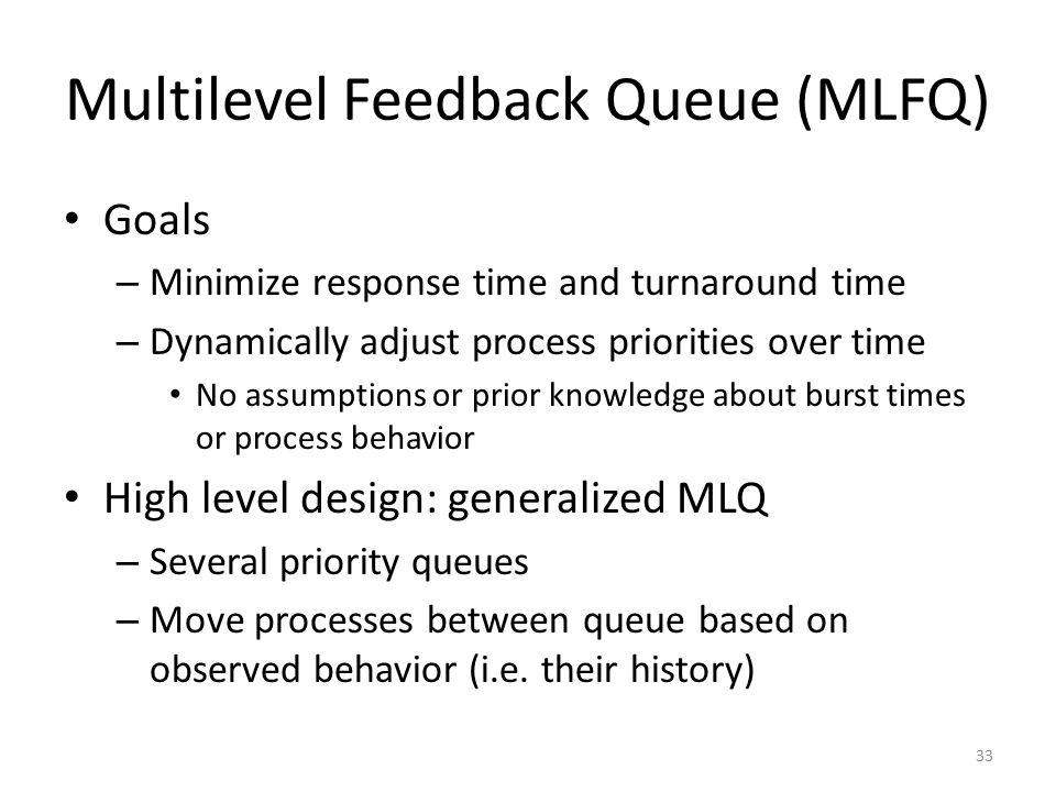 Multilevel Feedback Queue (MLFQ)