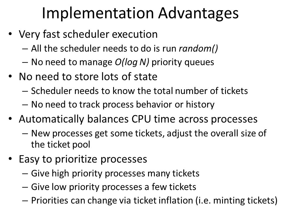 Implementation Advantages
