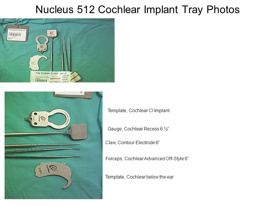 Nucleus 512 Cochlear Implant Tray Photos