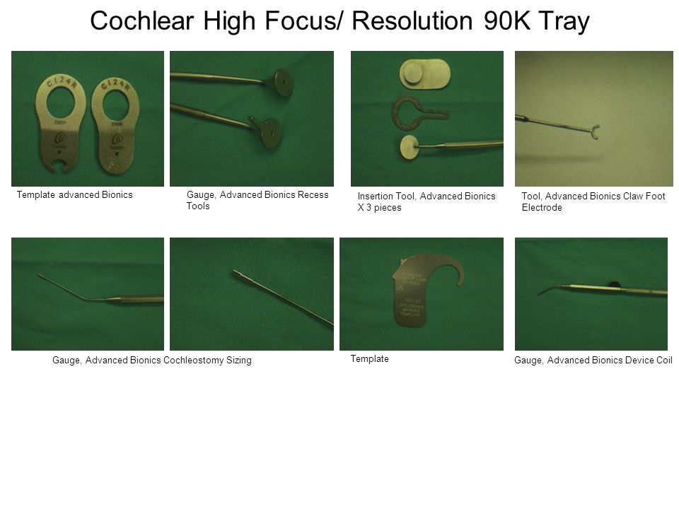 Cochlear High Focus/ Resolution 90K Tray