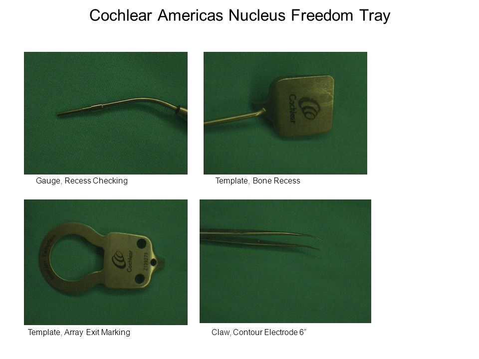 Cochlear Americas Nucleus Freedom Tray