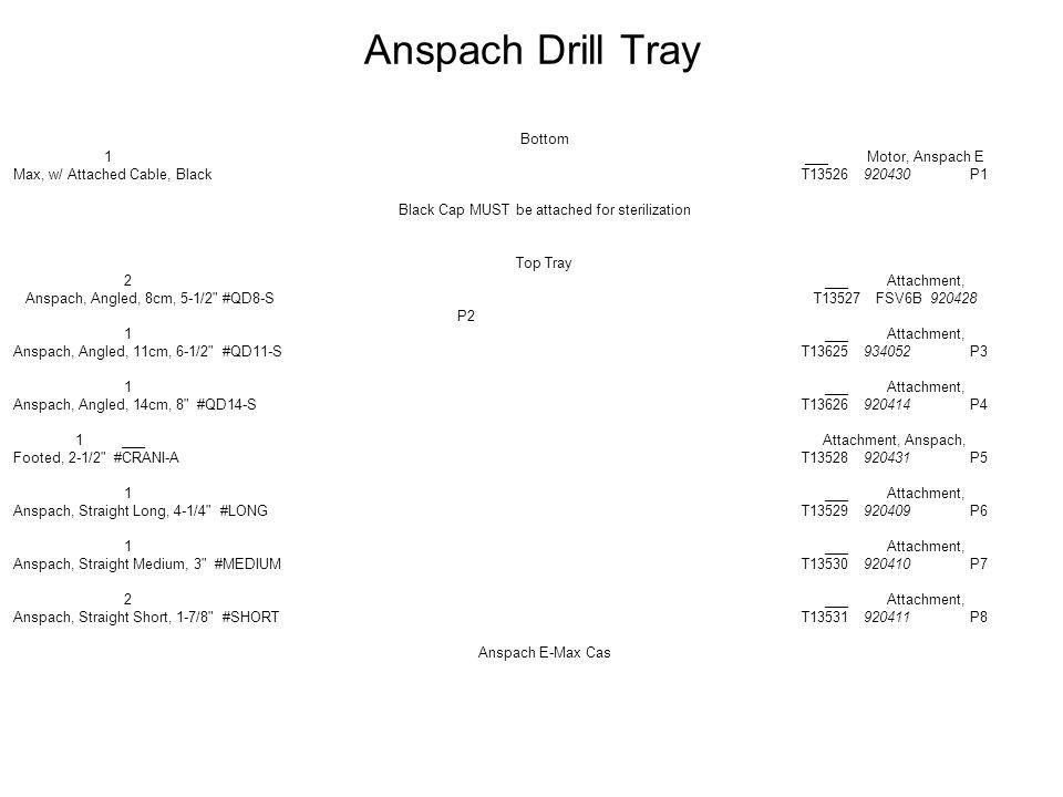 Anspach Drill Tray Bottom