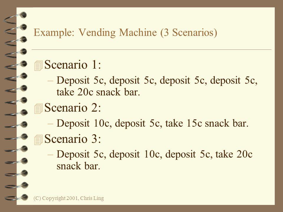 Example: Vending Machine (3 Scenarios)