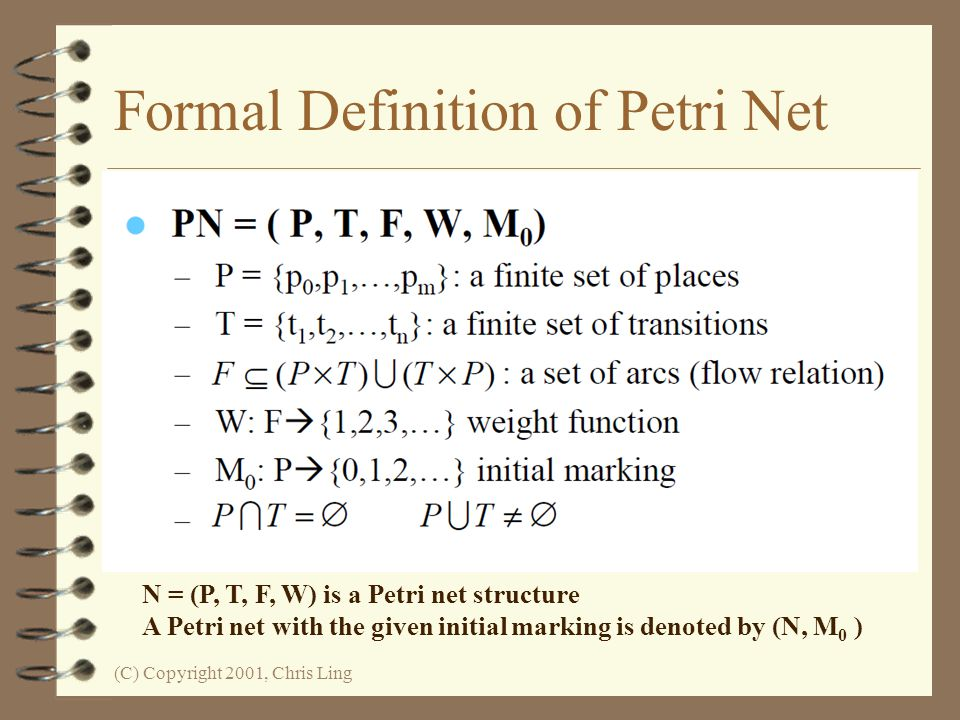 Formal Definition of Petri Net