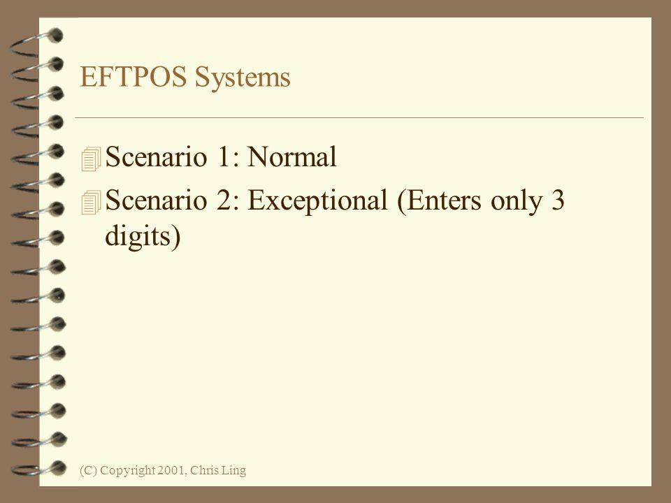 Scenario 2: Exceptional (Enters only 3 digits)