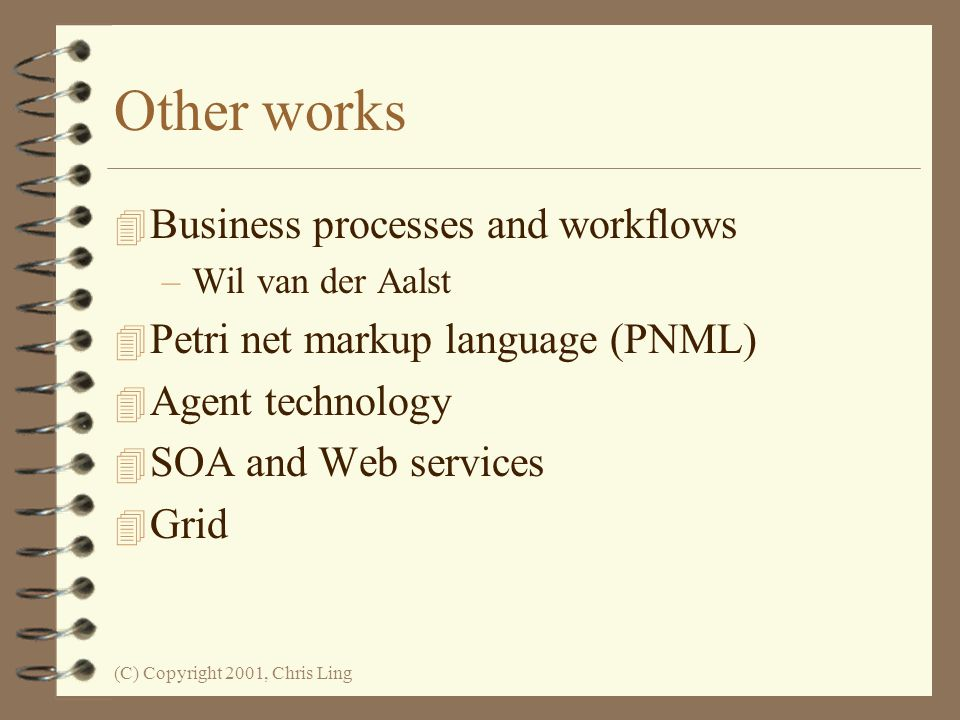 Other works Business processes and workflows