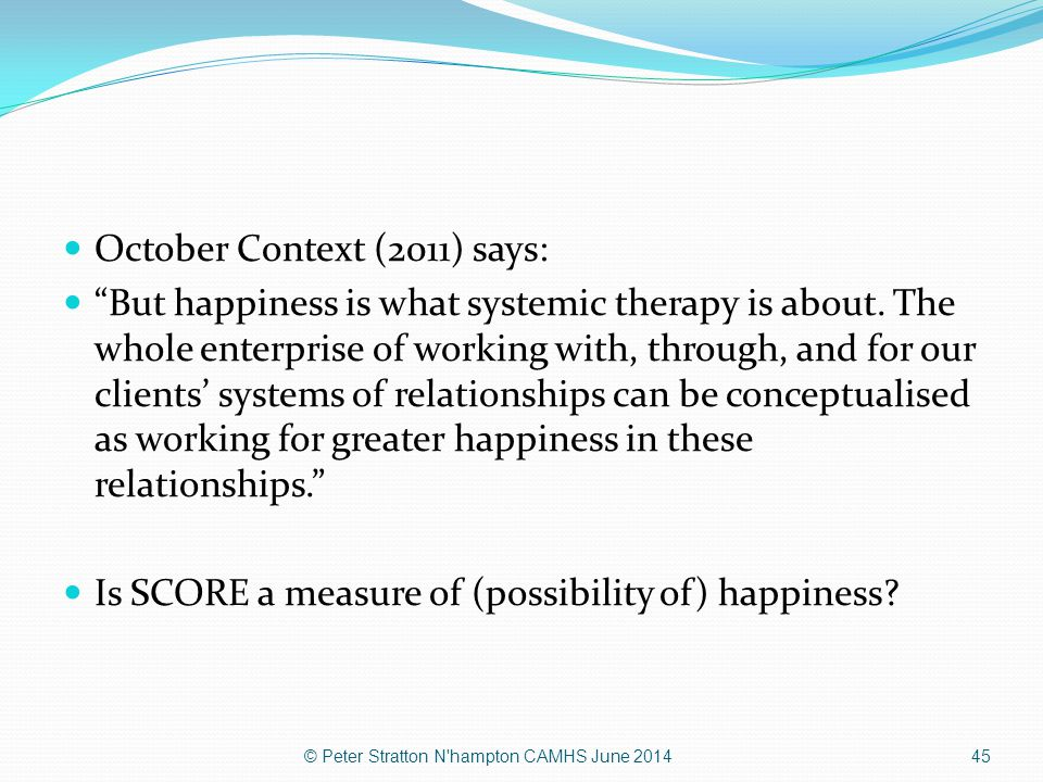 October Context (2011) says: