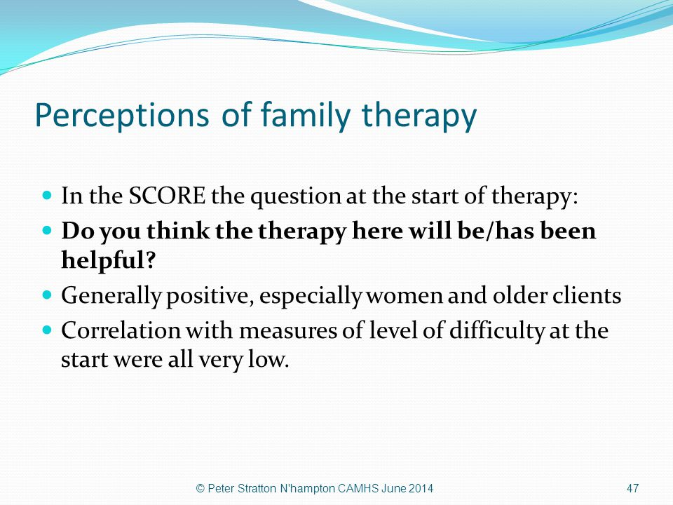 Perceptions of family therapy