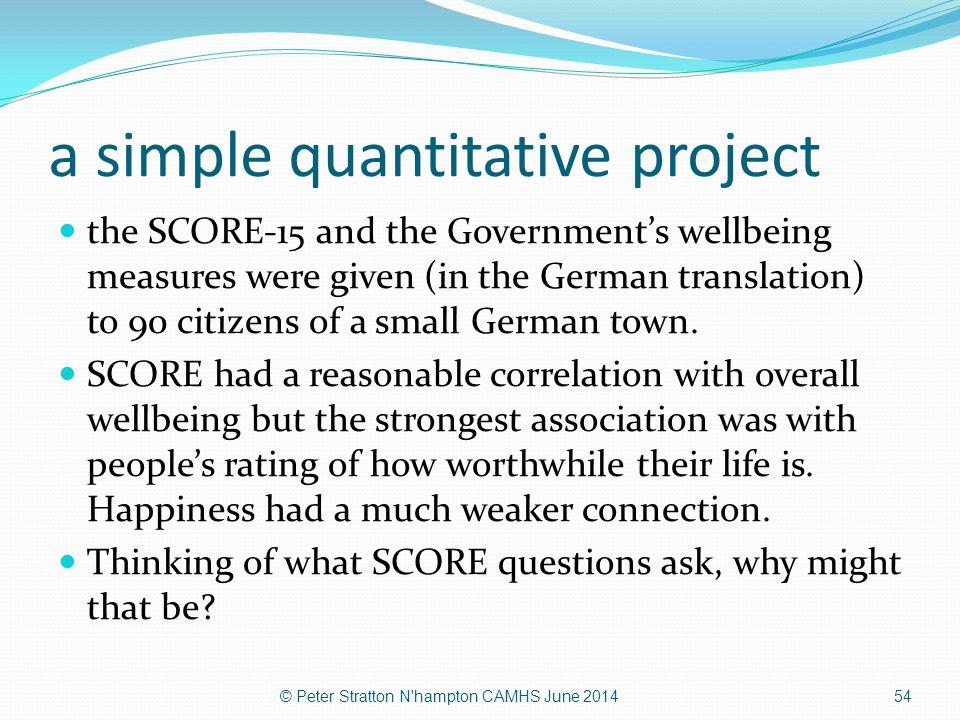 a simple quantitative project