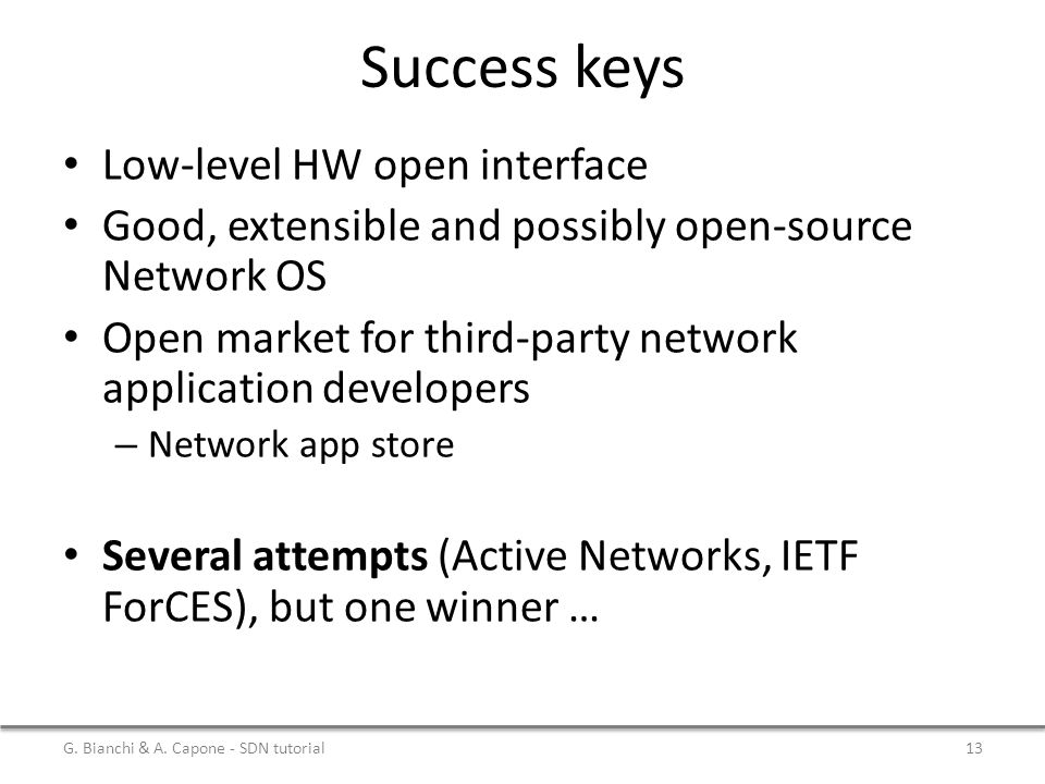 Success keys Low-level HW open interface