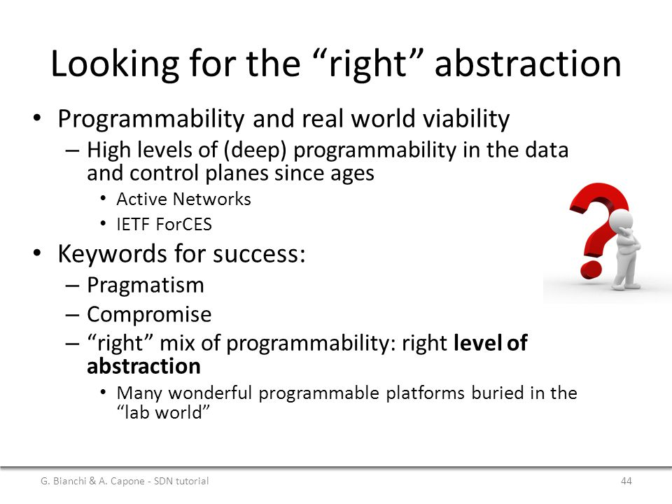Looking for the right abstraction
