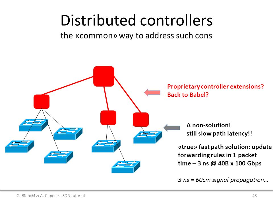 Distributed controllers the «common» way to address such cons