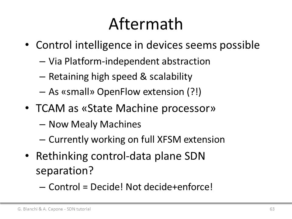 Aftermath Control intelligence in devices seems possible