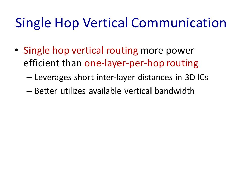 Single Hop Vertical Communication