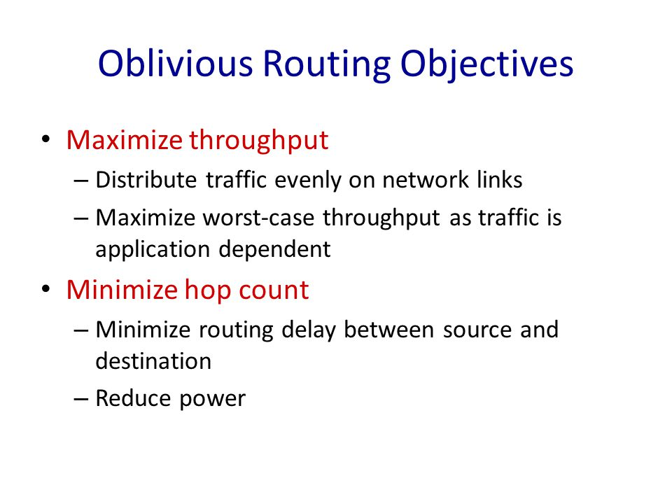 Oblivious Routing Objectives