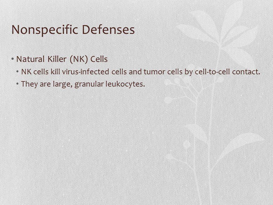 Nonspecific Defenses Natural Killer (NK) Cells