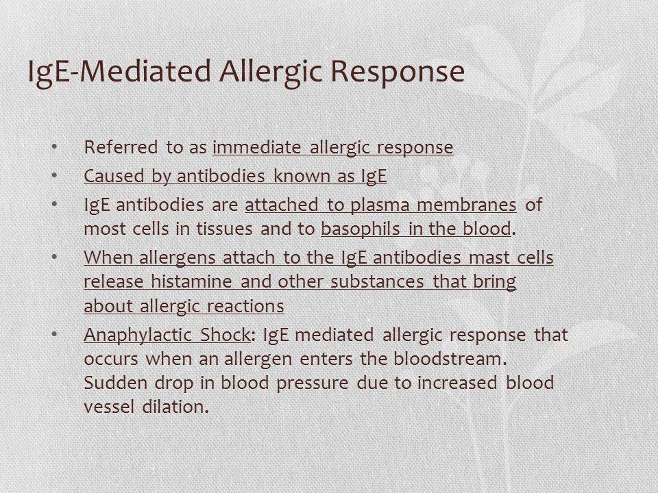 IgE-Mediated Allergic Response