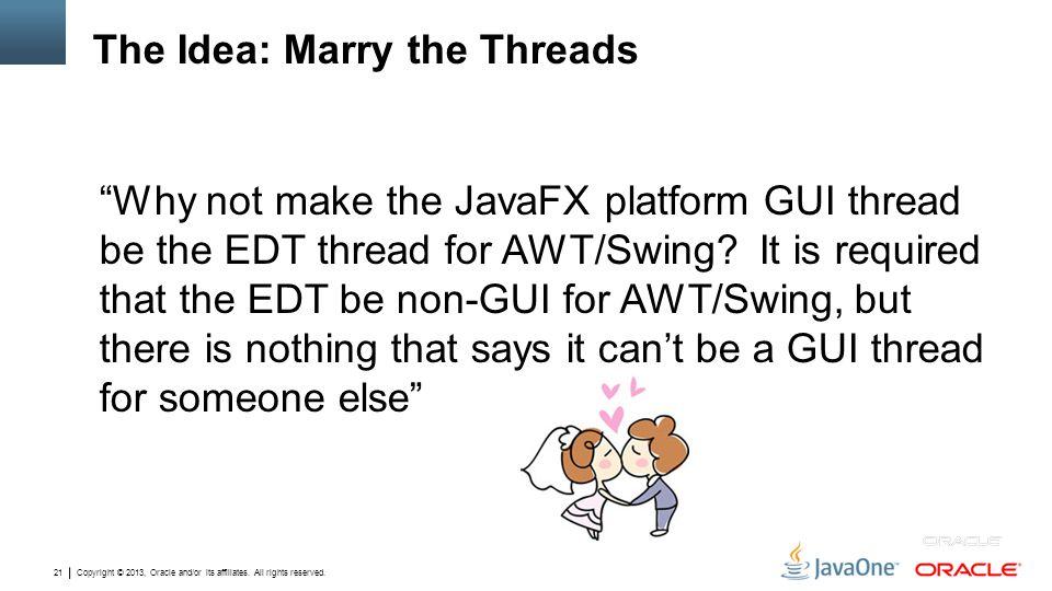 The Idea: Marry the Threads