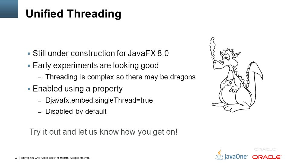 Unified Threading Still under construction for JavaFX 8.0
