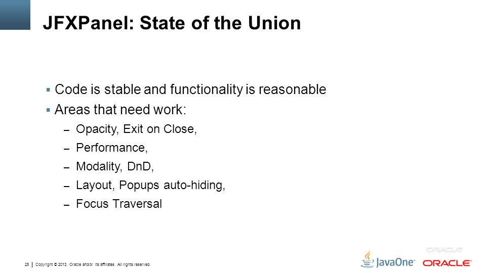 JFXPanel: State of the Union