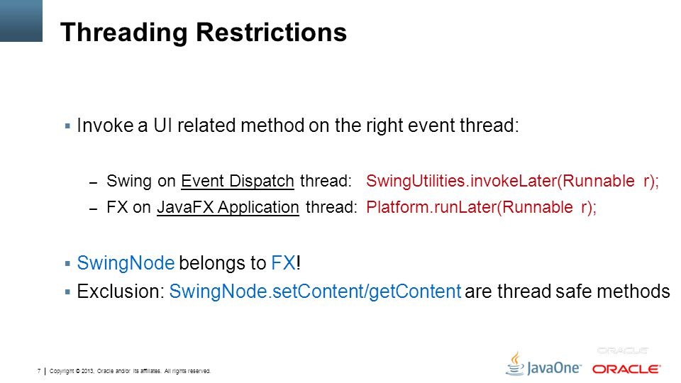 Threading Restrictions