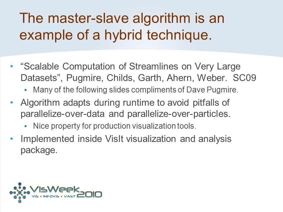 The master-slave algorithm is an example of a hybrid technique.