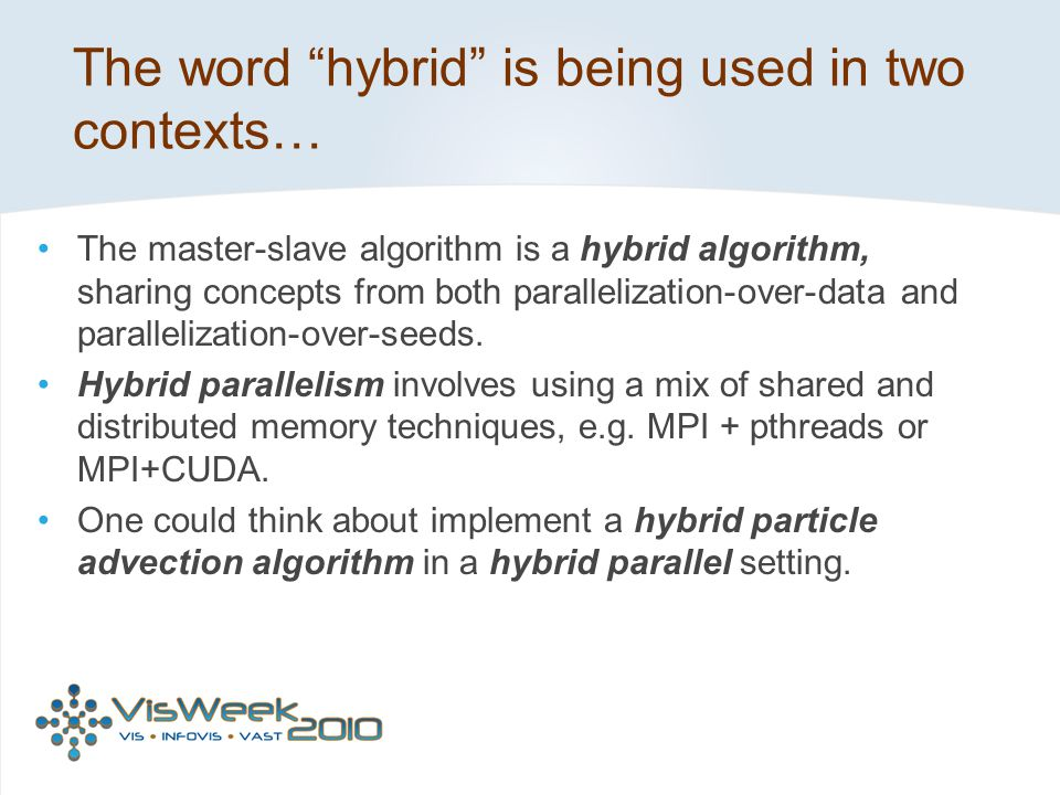 The word hybrid is being used in two contexts…