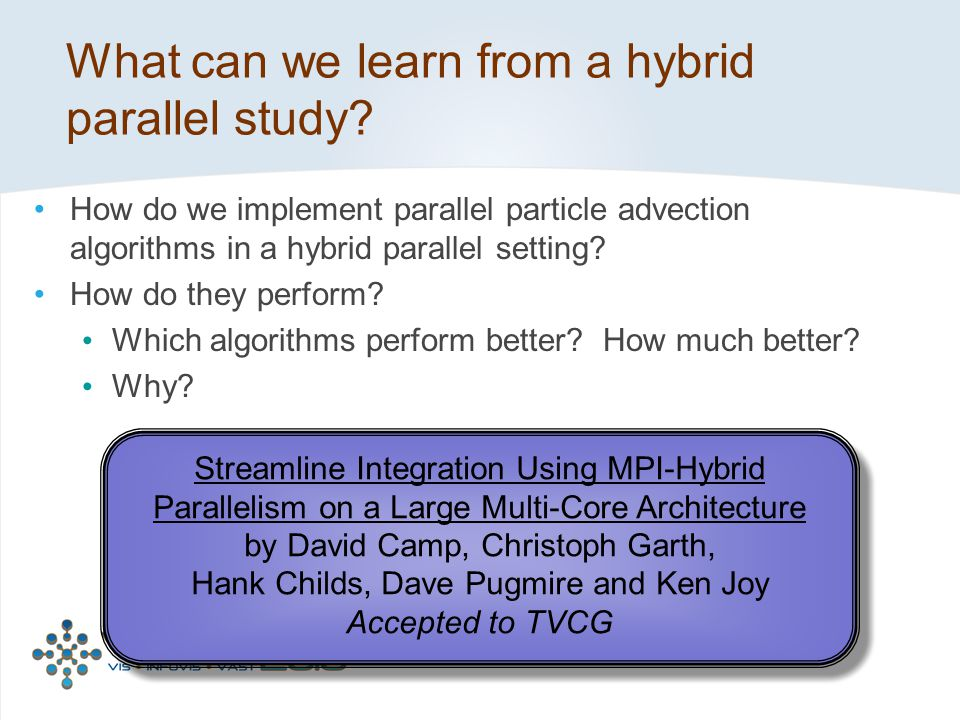 What can we learn from a hybrid parallel study