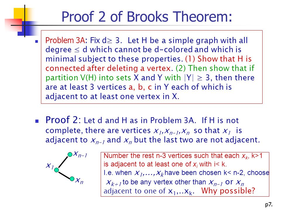 Proof 2 of Brooks Theorem: