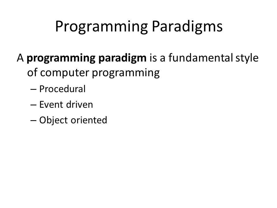 Programming Paradigms