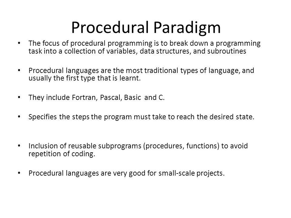 Procedural Paradigm