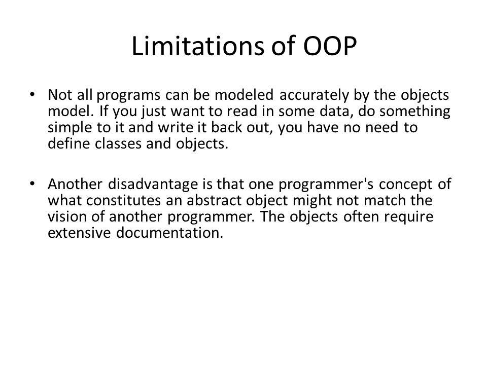 Limitations of OOP
