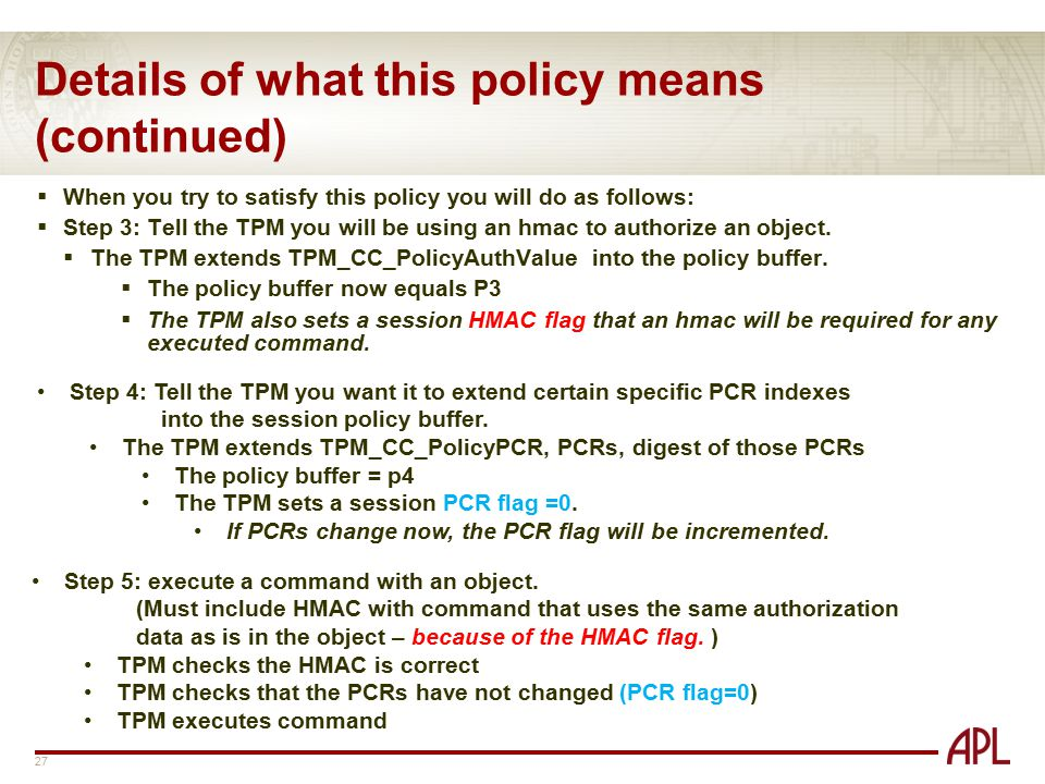 Details of what this policy means (continued)