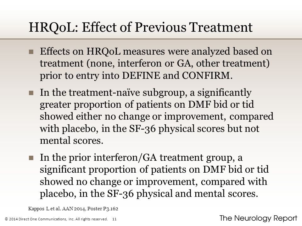 HRQoL: Effect of Previous Treatment
