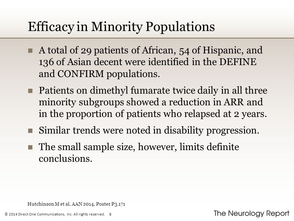 Efficacy in Minority Populations
