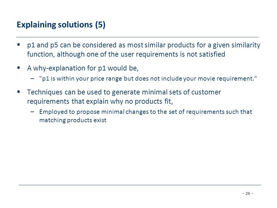 Explaining solutions (5)