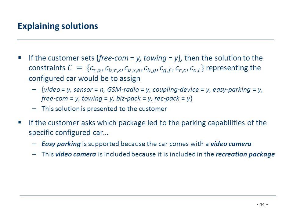 Explaining solutions