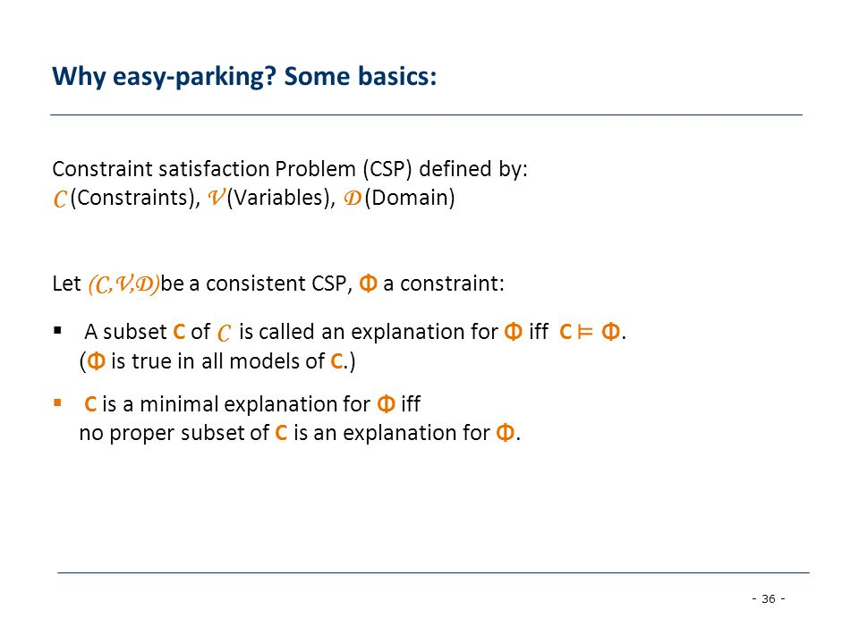 Why easy-parking Some basics: