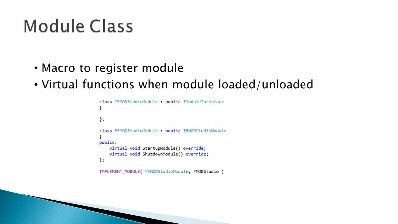 Module Class Macro to register module