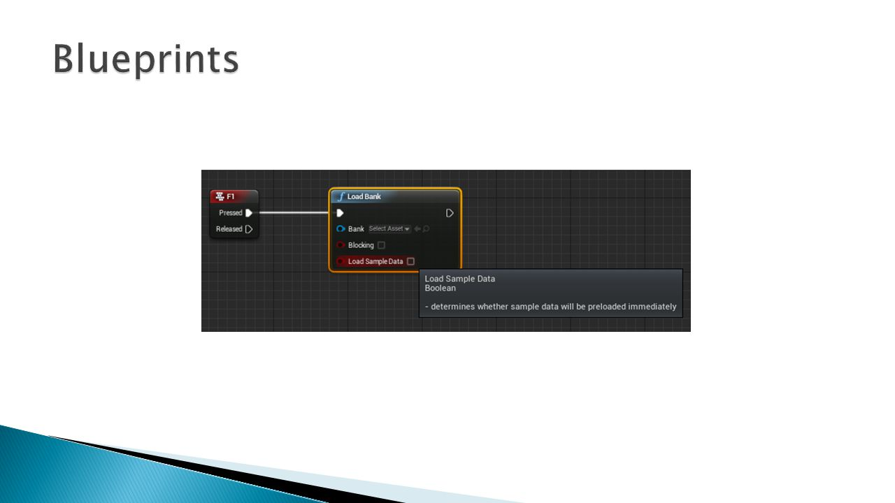 Blueprints Here is the LoadBank function.