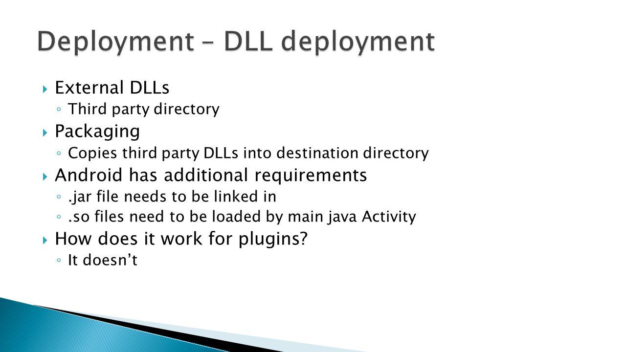 Deployment – DLL deployment