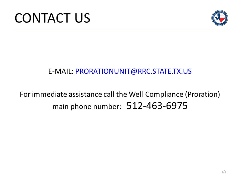 E-MAIL: PRORATIONUNIT@RRC.STATE.TX.US