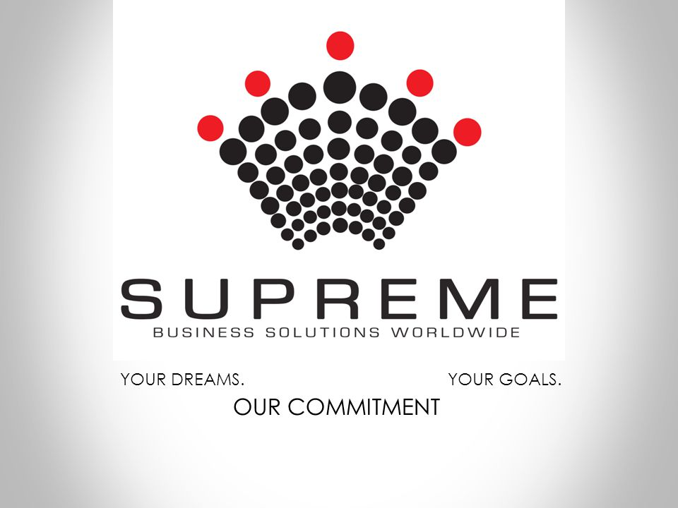 YOUR DREAMS. YOUR GOALS. OUR COMMITMENT
