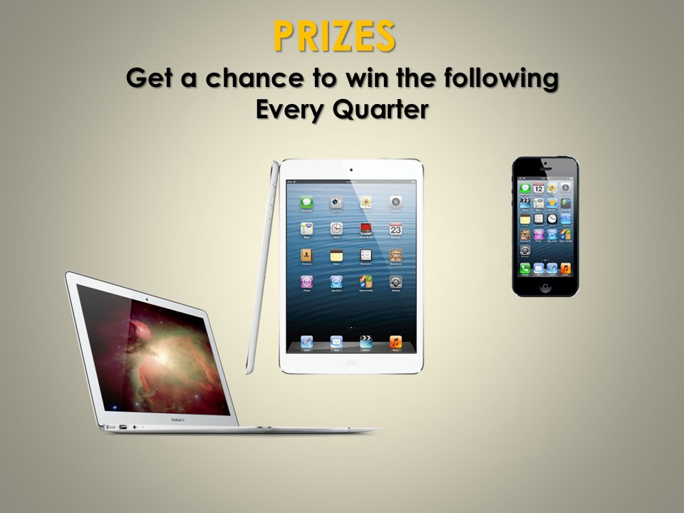 Get a chance to win the following