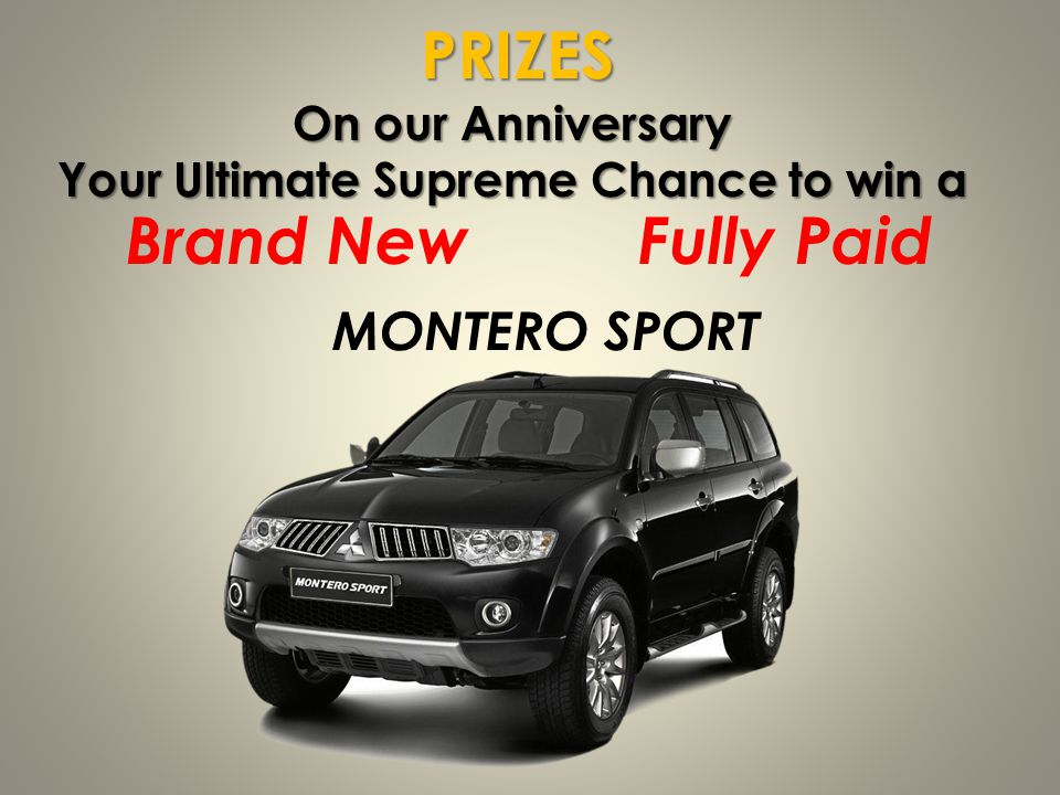 Your Ultimate Supreme Chance to win a