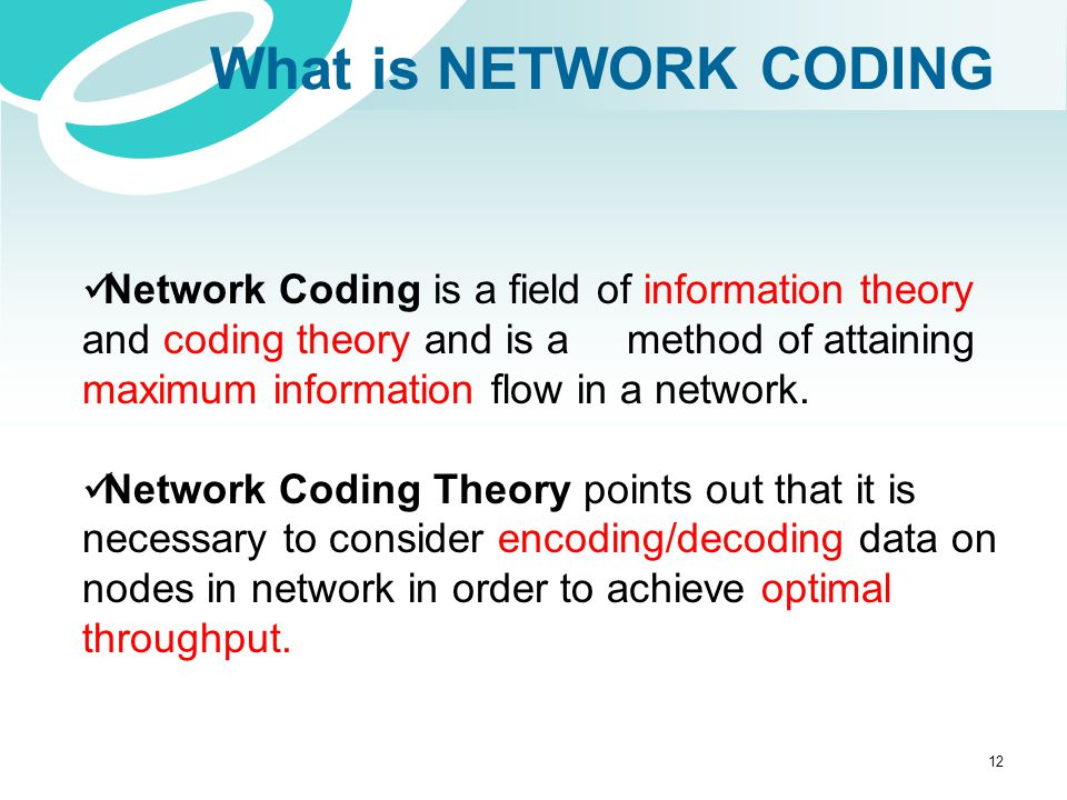 What is NETWORK CODING