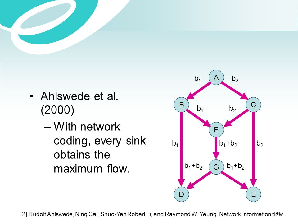 With network coding, every sink obtains the maximum flow.