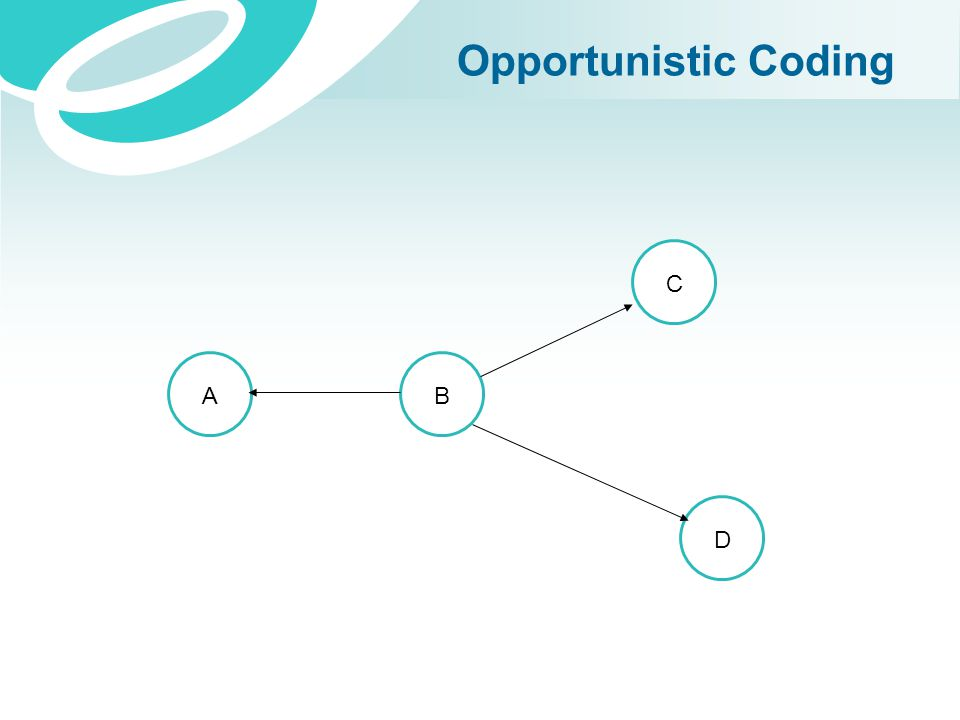 Opportunistic Coding C A B D